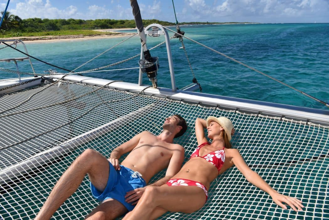 Vacation in paradisiacal island